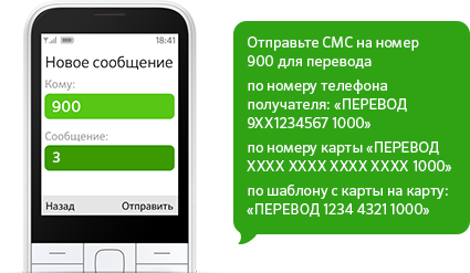 Пополнение баланса телефона с карты Сбербанка